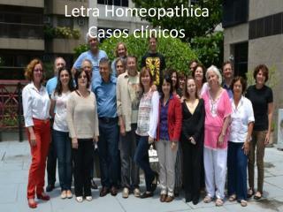 Letra Homeopathica Casos clínicos