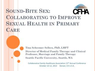 Sound-Bite Sex : Collaborating to Improve Sexual Health in Primary Care