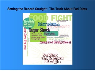 Setting the Record Straight:  The Truth About Fad Diets