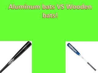 Aluminum bats VS Wooden bats!