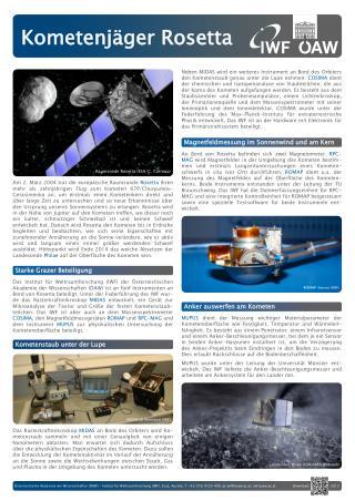 Kometenjäger Rosetta