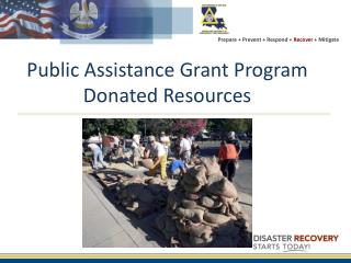 Public Assistance Grant  Program Donated Resources