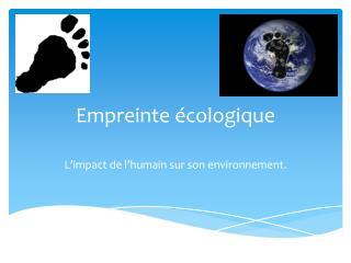 Empreinte écologique