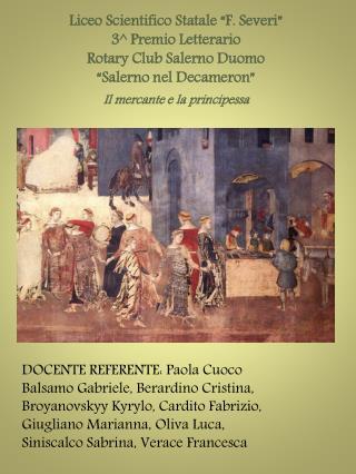 """Liceo Scientifico Statale """"F. Severi"""" 3 ^ Premio Letterario Rotary Club Salerno Duomo"""