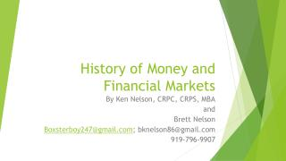 History of Money and Financial Markets