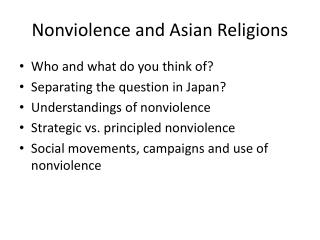 Nonviolence and Asian Religions