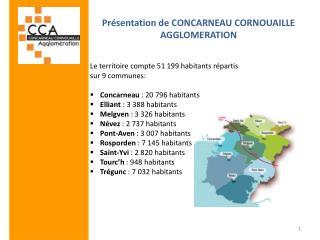 Pr�sentation de CONCARNEAU CORNOUAILLE AGGLOMERATION