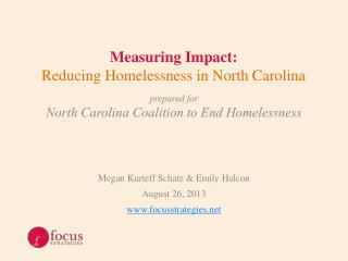 Measuring  Impact:  Reducing Homelessness in North Carolina