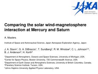 Comparing the solar wind-magnetosphere interaction at Mercury and Saturn
