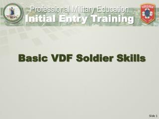 Basic VDF Soldier Skills