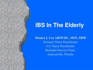 IBS In The Elderly