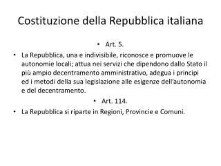 Costituzione della Repubblica italiana