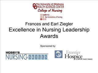 Frances and Earl Ziegler Excellence in Nursing Leadership Awards