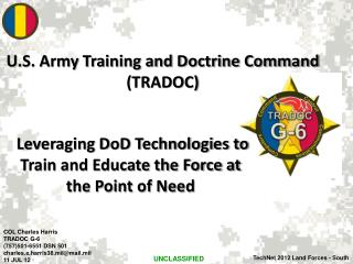 Leveraging DoD Technologies to Train and Educate the Force at the Point of Need