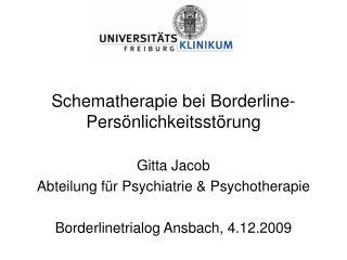 Schematherapie bei Borderline-Pers nlichkeitsst rung