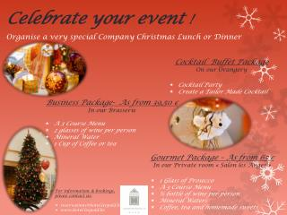 Celebrate your event !