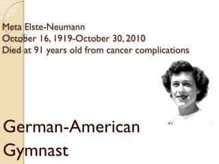 German-American Gymnast