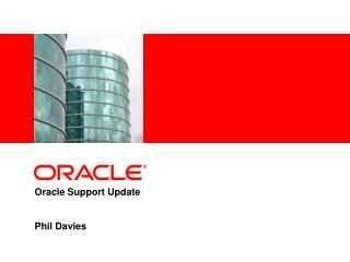 Oracle Support Update