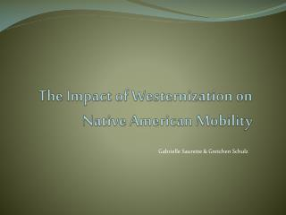 The Impact of Westernization on Native American Mobility