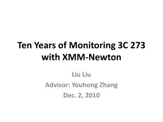 Ten Years of Monitoring 3C 273 with XMM-Newton