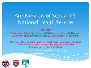 An Overview of Scotland's National Health  Service