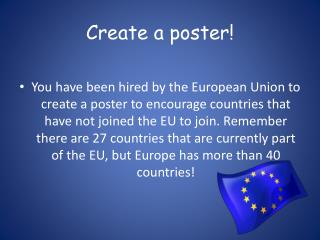 Create a poster!