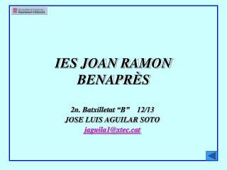 IES JOAN RAMON BENAPRÈS