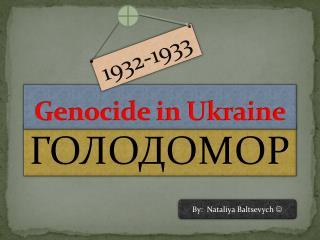Genocide in Ukraine