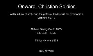 Onward, Christian Soldier