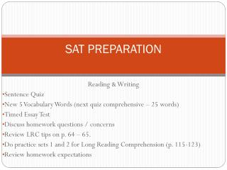 SAT PREPARATION