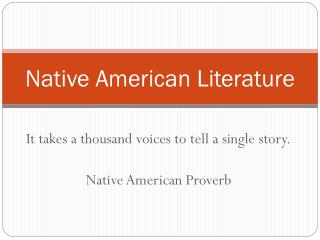 Native American Literature