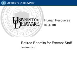 Retiree Benefits for Exempt Staff