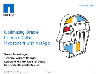 Optimizing Oracle  License  D ollar  I nvestment  with NetApp