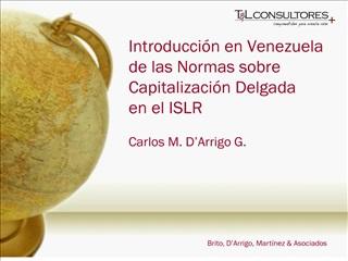 Introducci n en Venezuela de las Normas sobre Capitalizaci n Delgada  en el ISLR