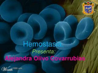 Hemostasia. Presenta :   Alejandra Olivo Covarrubias