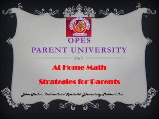 OPES Parent University