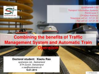 Combining the benefits of Traffic Management System and Automatic Train Operation