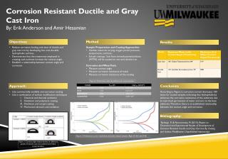 Corrosion Resistant Ductile and Gray Cast Iron By: Erik Anderson and Amir  Hesamian