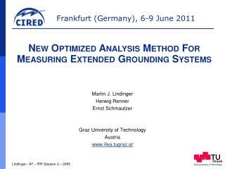 Martin J.  Lindinger Herwig  Renner Ernst  Schmautzer Graz  University  of  Technology Austria