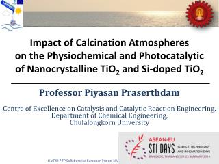 Impact of  Calcination  Atmospheres  on the Physiochemical and  Photocatalytic