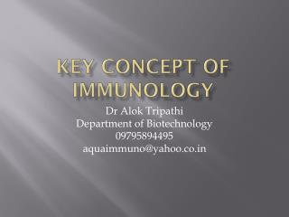 Key Concept of Immunology