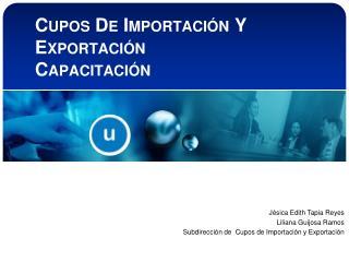Cupos De Importación Y Exportación Capacitación