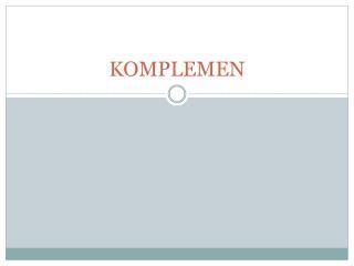 KOMPLEMEN
