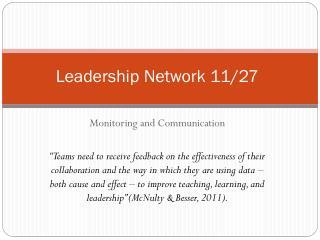 Leadership Network 11/27