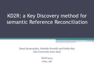 KD2R: a Key Discovery method for semantic Reference Reconciliation