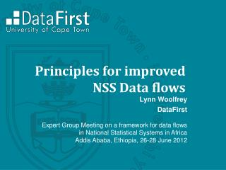 Principles for  improved NSS Data flows