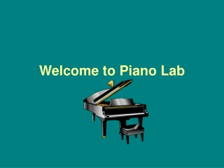 Welcome to Piano
