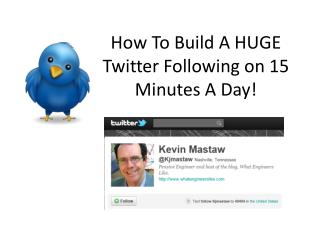How To Build A HUGE Twitter Following on 15 Minutes A Day!