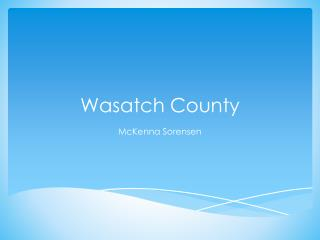 Wasatch County
