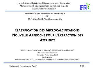 Rencontres sur la Recherche en Informatique  R²I  2011  12-14 juin 2011, Tizi-Ouzou, Algérie